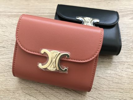CELINE Small Triomphe Wallet In Shiny Smooth Lambskin