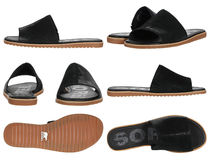 SOREL Open Toe Plain Toe Round Toe Rubber Sole Casual Style