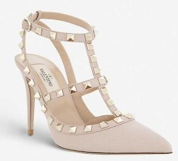 VALENTINO Studded Plain Pin Heels Party Style Office Style