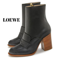 LOEWE Plain Toe Casual Style Other Animal Patterns Leather