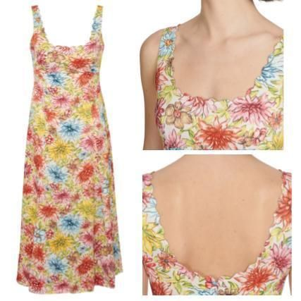 Flower Patterns Casual Style Sleeveless Long Party Style