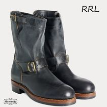 RRL Street Style Leather Engineer Boots