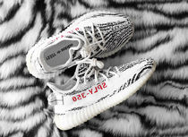 adidas YEEZY BOOST 350 Stripes Zebra Patterns Unisex Street Style Collaboration