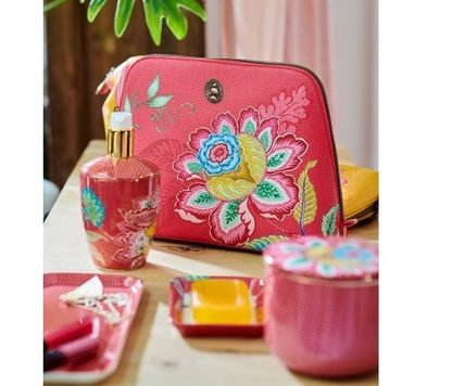 Flower Patterns Unisex Pouches & Cosmetic Bags