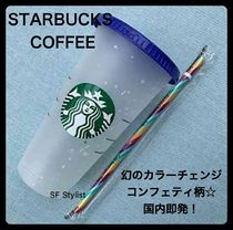 STARBUCKS Unisex Blended Fabrics Street Style With Jewels