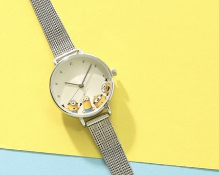 Casual Style Collaboration Round Quartz Watches