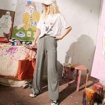 ELF SACK Casual Style Street Style Plain Long Culottes