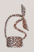 Ganni Leopard Patterns Casual Style Crossbody Shoulder Bags