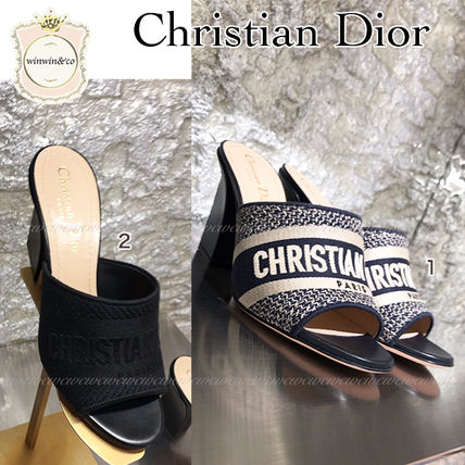 Christian Dior Mules Open Toe Heeled Sandals