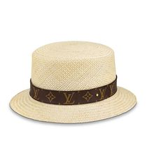 Louis Vuitton MONOGRAM Unisex Blended Fabrics Street Style Straw Boaters Straw Hats