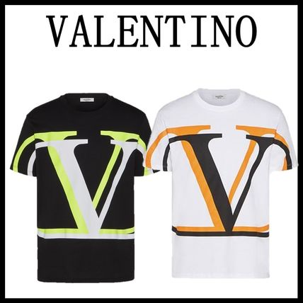VALENTINO Crew Neck Crew Neck Cotton Short Sleeves Logo Luxury