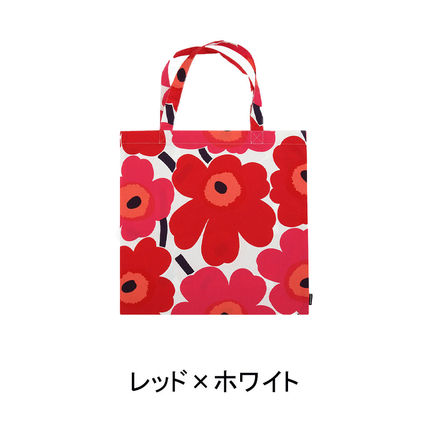 Flower Patterns Unisex Street Style A4 Logo Shoppers