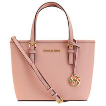 Michael Kors JET SET TRAVEL Casual Style Plain Leather Party Style Office Style