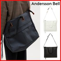 ANDERSSON BELL Casual Style Unisex Street Style Logo Shoulder Bags