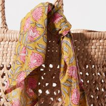 Anthropologie Plain Leather Straw Bags