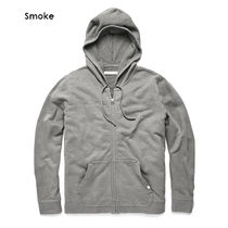 Outer known Pullovers Long Sleeves Plain Cotton Surf Style Hoodies