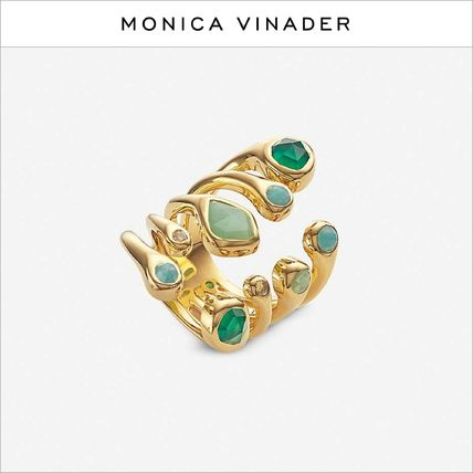 Monica Vinader Rings Costume Jewelry Casual Style Street Style Silver 18K Gold
