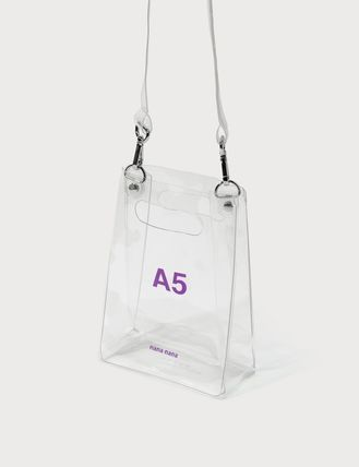 Casual Style Plain Crystal Clear Bags PVC Clothing Crossbody