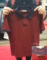 MONCLER Plain Cotton Short Sleeves Logo Polos
