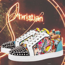 Christian Louboutin LOUIS Studded Street Style Leather Logo Sneakers