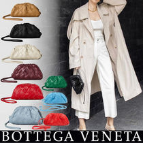 BOTTEGA VENETA THE POUCH Casual Style Unisex Lambskin 2WAY Plain Leather Party Style