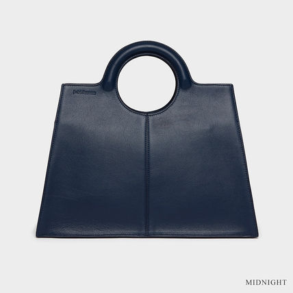 Casual Style Calfskin A4 3WAY Plain Leather Office Style