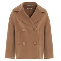 S Max Mara Short Casual Style Wool Plain Peacoats