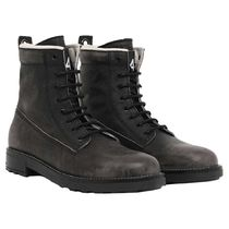 DIESEL Plain Toe Mountain Boots Suede Street Style Leather Logo