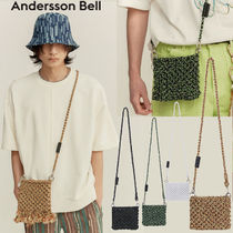 ANDERSSON BELL Casual Style Unisex Street Style Plain Logo Shoulder Bags