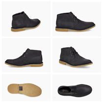 UGG Australia Plain Toe Blended Fabrics Bi-color Plain Leather Bold Logo