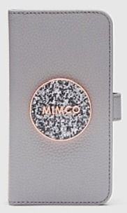 Studded Plain Leather With Jewels Glitter Logo iPhone 11 Pro
