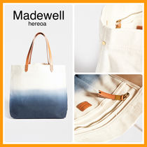 Madewell Casual Style Unisex Canvas Plain Totes
