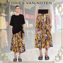 Dries Van Noten Flower Patterns Casual Style Cotton Medium Elegant Style