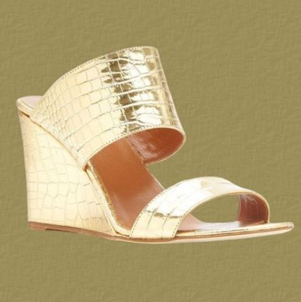Open Toe Casual Style Street Style Plain Leather Party Style