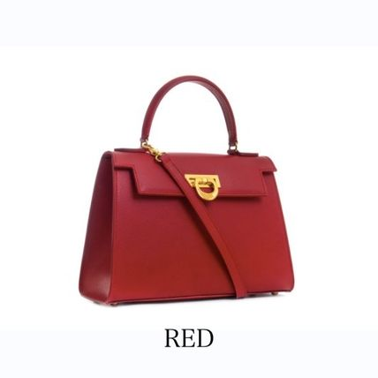 Suede 2WAY Plain Leather Office Style Elegant Style Handbags