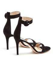 Gianvito Rossi Suede Plain Pin Heels Heeled Sandals