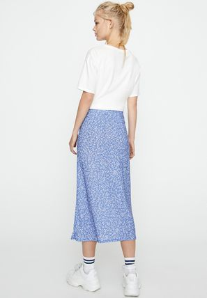 Pencil Skirts Flower Patterns Casual Style Long