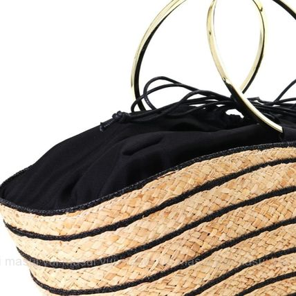 Stripes Purses Bucket Bags