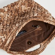 CATERINA BERTINI A4 Plain Straw Bags