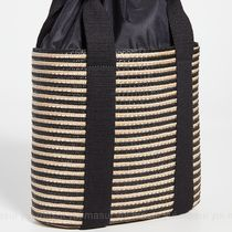 CATERINA BERTINI Stripes Straw Bags
