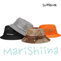 Supreme Unisex Street Style Wide-brimmed Hats