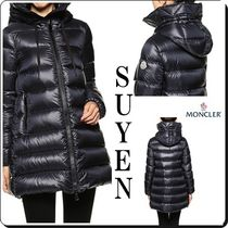 MONCLER SUYEN Casual Style Street Style Plain Long Party Style
