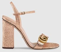 GUCCI GG Marmont Leather Sandal