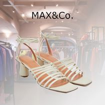 Max&Co. Open Toe Casual Style Plain Elegant Style Heeled Sandals