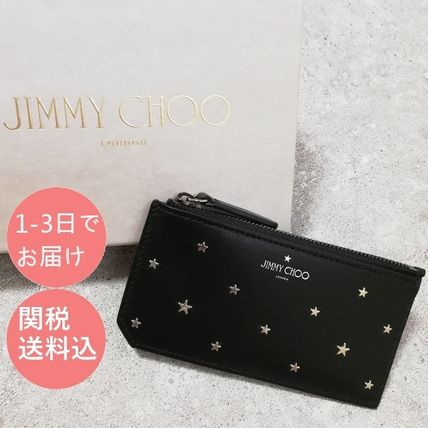 Jimmy Choo Unisex Leather Card Holders