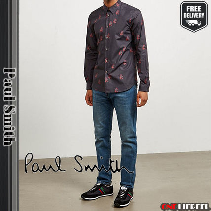 Paul Smith Shirts Flower Patterns Long Sleeves Cotton Shirts 3