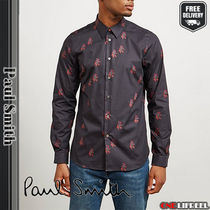 Paul Smith Shirts Flower Patterns Long Sleeves Cotton Shirts 4