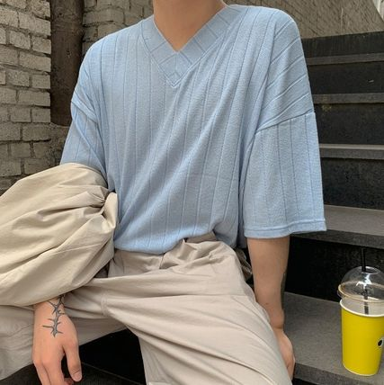 More T-Shirts Plain Cotton Short Sleeves Oversized T-Shirts
