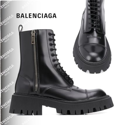 BALENCIAGA Tractor 20Mm Lace-Up Boot