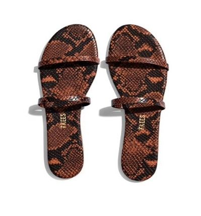 Leopard Patterns Casual Style Street Style Python Sandals